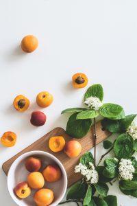 Pessegueiro, flor e fruto