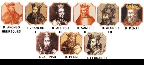 Primeira dinastia de Portugal, a dinastia de Borgonha (também chamada Afonsina)