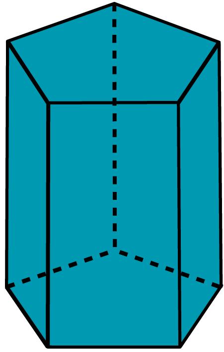 Desenho de um prisma pentagonal.