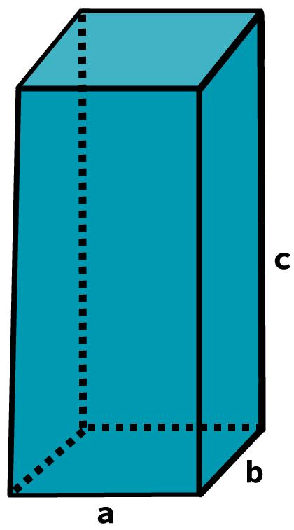 Desenho de um prisma quadrangular.