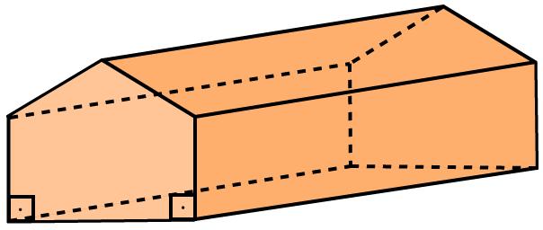 Desenho de um prisma reto pentagonal.