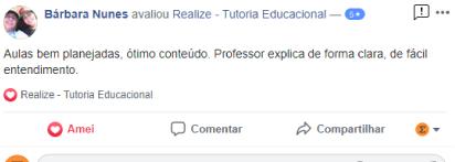 Avaliação facebook - Barabara Nunes