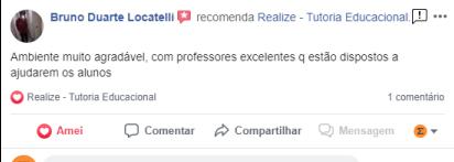 Avaliação facebook - Bruno Duarte Locatelli