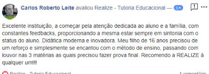 Avaliação facebook - Carlos Roberto Leite