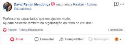 Avaliação facebook - David Mendonça