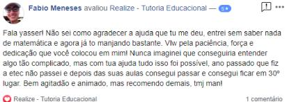 Avaliação facebook - Fabio Meneses