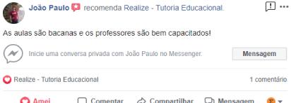 Avaliação facebook - João Paulo