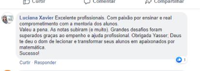 Avaliação facebook - Luciana Xavier