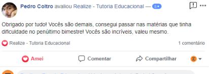 Avaliação facebook - Pedro Coltro