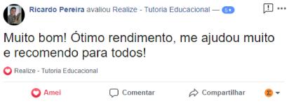 Avaliação facebook - Ricardo Pereira