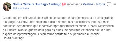 Avaliação facebook - Soraia Teixeira Santiago