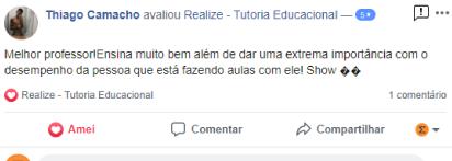 Avaliação facebook - Thiago Camacho