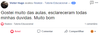 Avaliação facebook - Victor Hugo