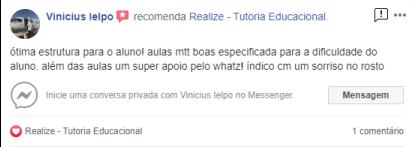 Avaliação facebook - Vinicius Ielpo